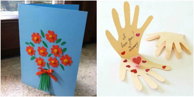 10 Cartões Lindos para fazer com Crianças no Dia das Mães