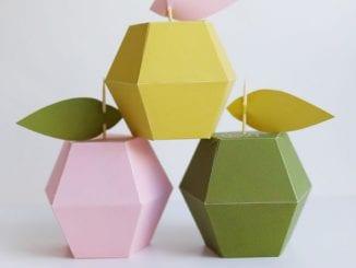 Moldes para Fazer Caixinhas Maçãs para Festa de Dia das Mães