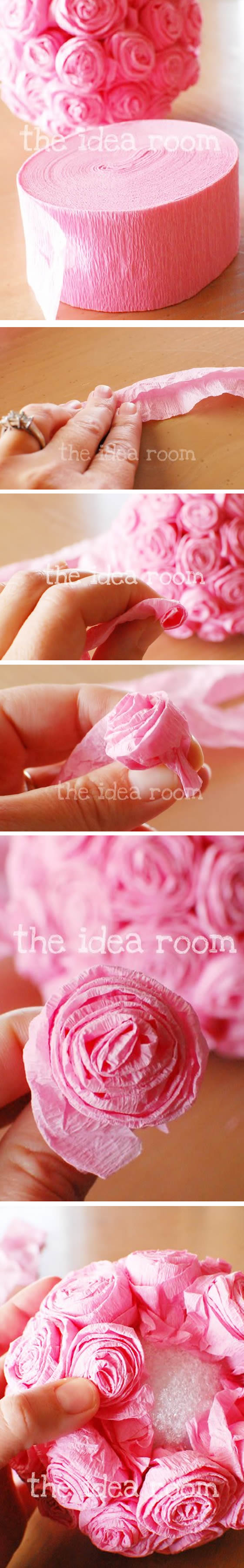 Bolas de Flores de Papel Crepom