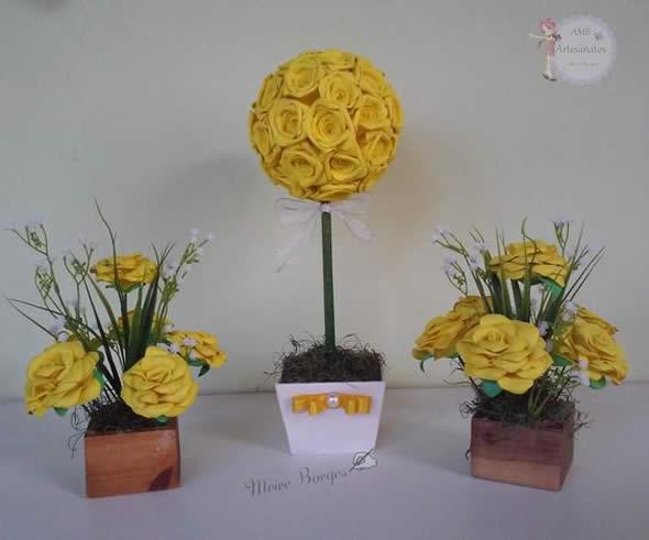 Centros de Mesa com Bolas de Flores