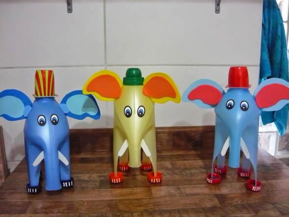 Brinquedos feitos com Garrafa de Amaciante