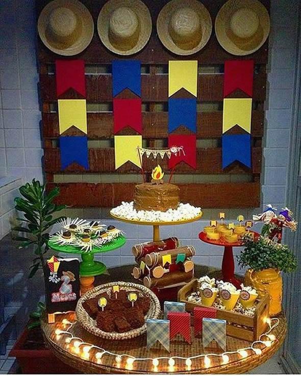 Decoração para Festa Junina Aniversário