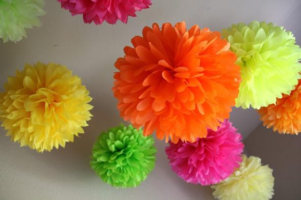 Flores de Papel de Seda para Festa Junina
