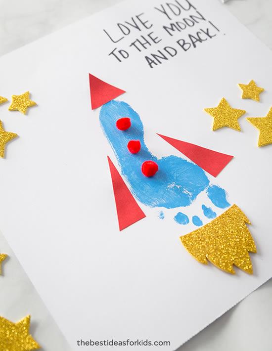 Cartão para o Dia dos Pais Infantil com Pintura