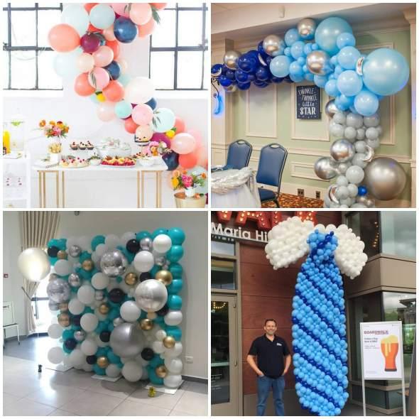 Decoração com Bolas de Festa para Dia dos Pais