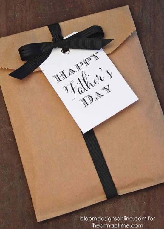 Sacolinhas de Papel Decoradas para Dia dos Pais