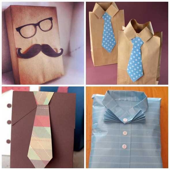 Embalagens com gravatas para dia dos pais