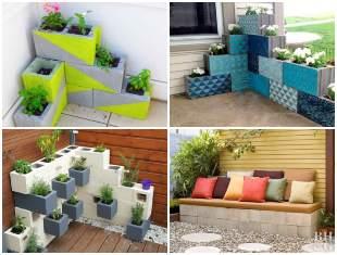Decoração para o Jardim com Blocos de Concreto