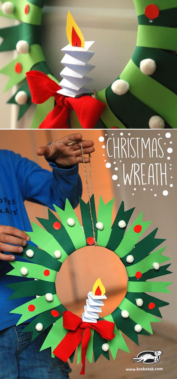 Guirlanda de Natal com Papel e Reciclagem