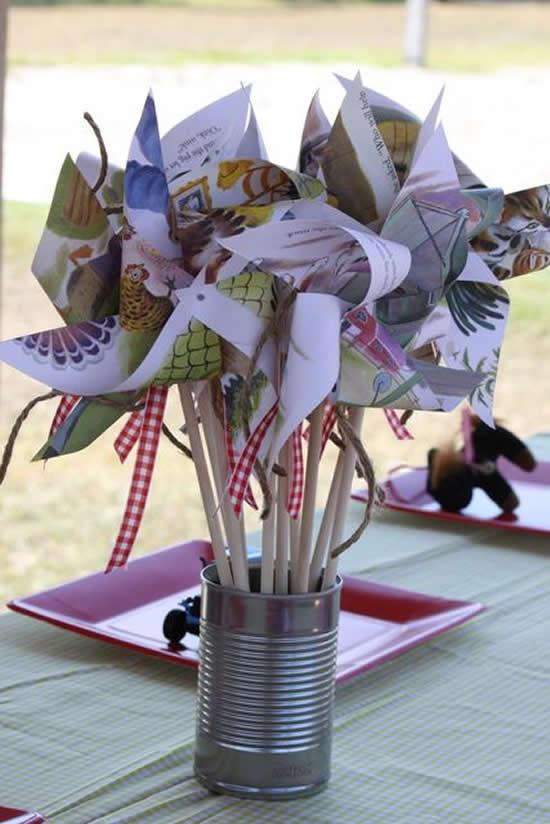Decoração com Reciclagem para Dia das Crianças