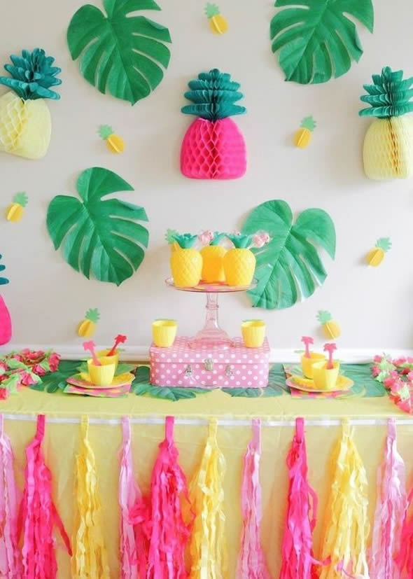 Ideias De Decoração Para Festa Tropical Como Fazer Em Casa