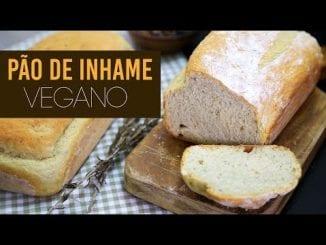 pão de inhame vegano
