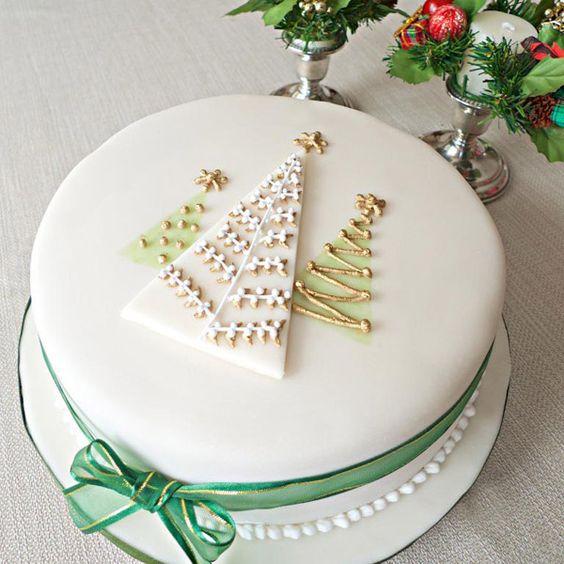bolo de natal decorado