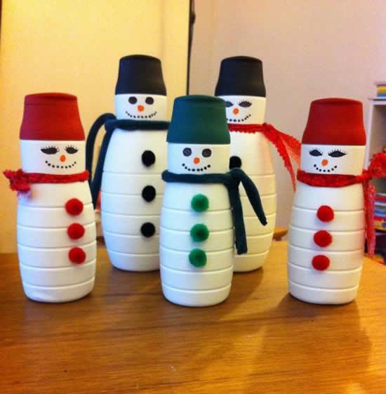 Decoração de Natal com Reciclagem
