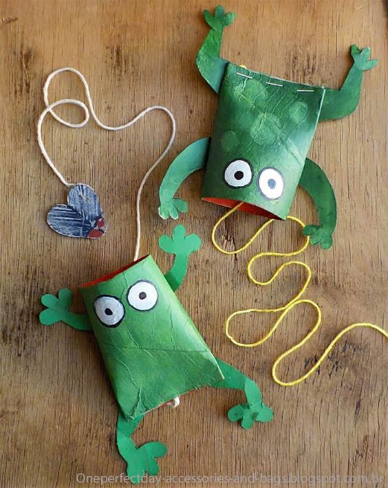 sapinhos de papel higiÊnico Brinquedos de papel reciclado