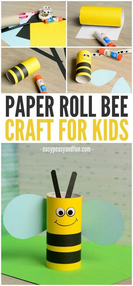 abelha de papel higiêncio