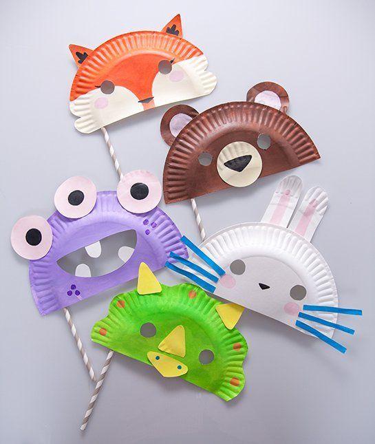 máscaras de pratos Brinquedos de papel reciclado