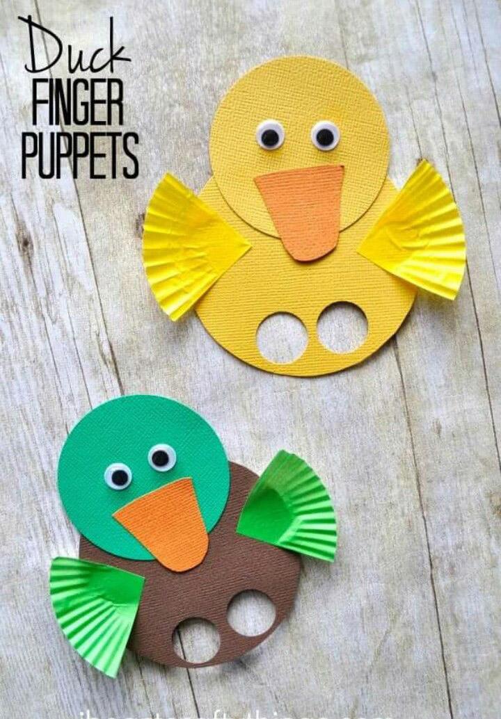 Brinquedos de papel reciclado fantoches
