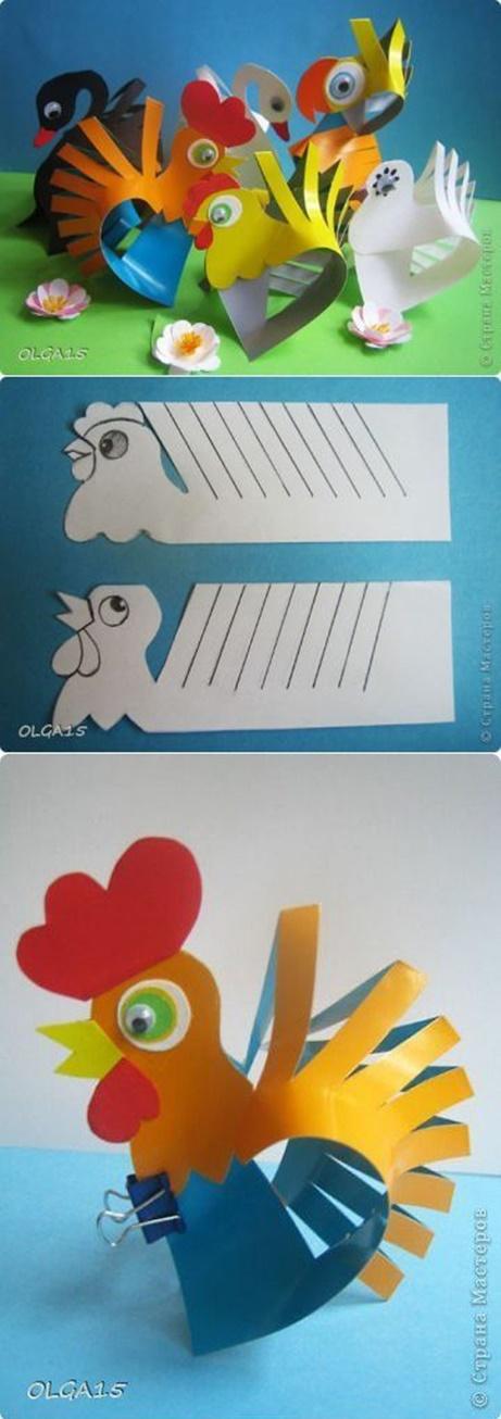 aves Brinquedos de papel reciclado (8)