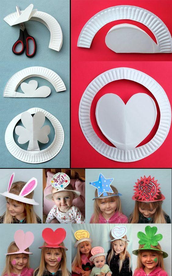 chapeus de pratos Brinquedos de papel reciclado (8)