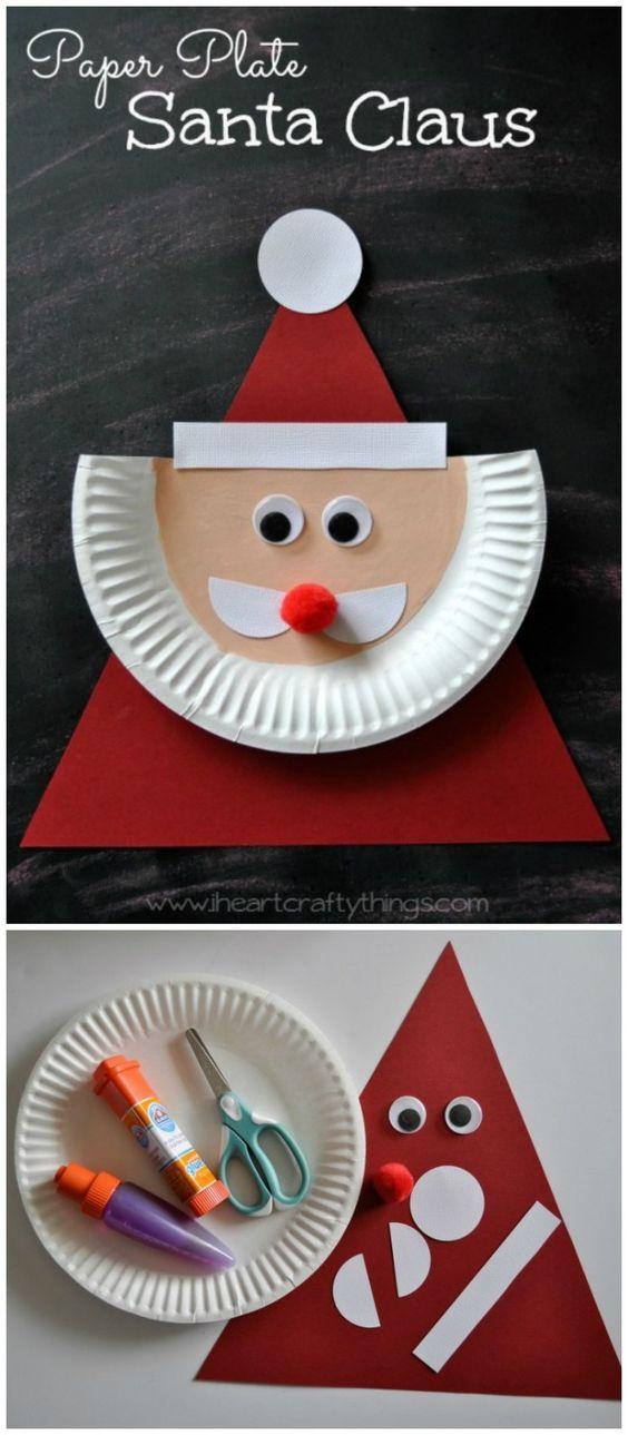 papai noel de pratos Brinquedos de papel reciclado (8)