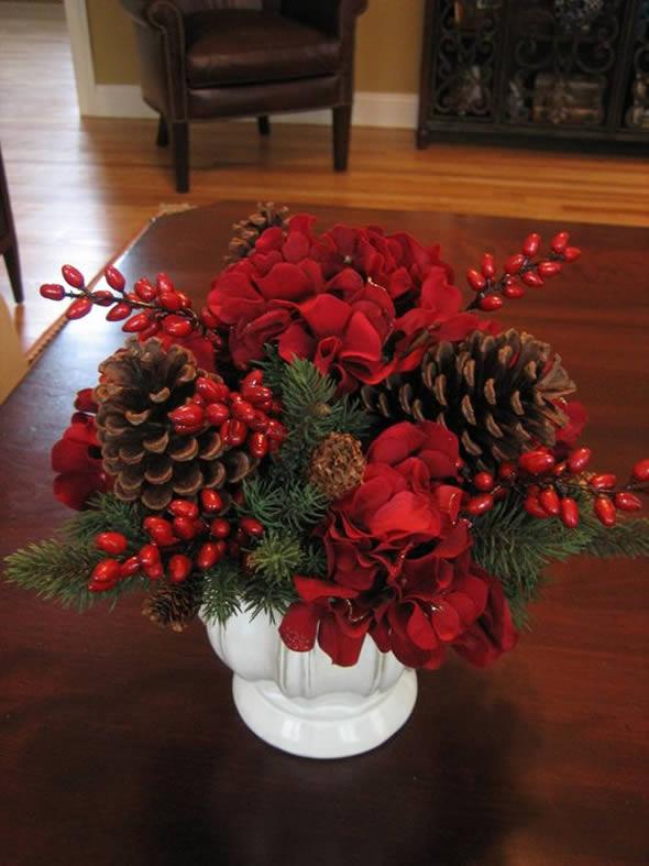 15 ideias para Arranjos Decorativos de Natal