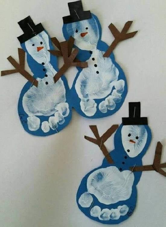 Artesanatos de Natal para fazer com Crianças