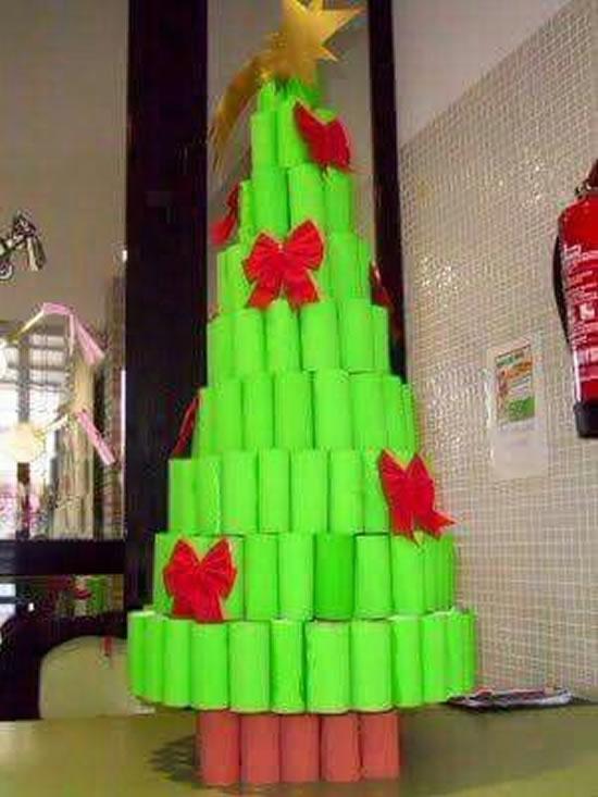 Artesanato de Natal com Reciclagem