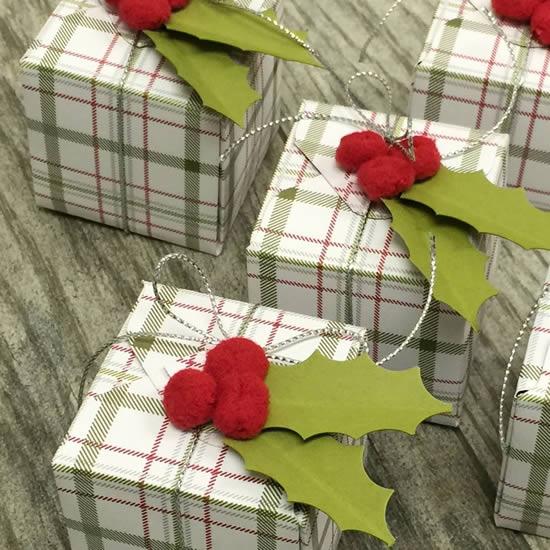 Caixinha de Papel para Natal com Moldes