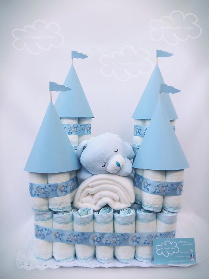 castelos como fazer bolo de fraldas para chá de bebê passo a passo (21)