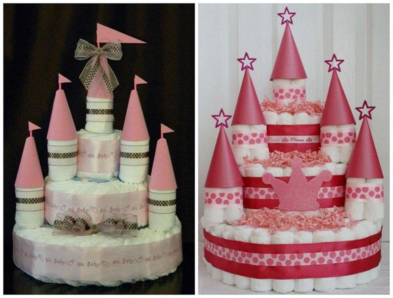 Como fazer bolo de fraldas para chá de beb u00ea Como fazer em  -> Decoração Para Chá De Fraldas Passo A Passo