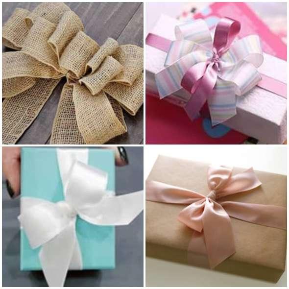 Decoração de Presentes com Laços
