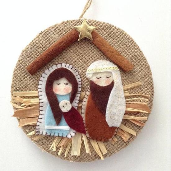 Decoração de Natal com Juta