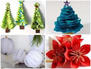 Decoração de Natal com Enfeites de Papel