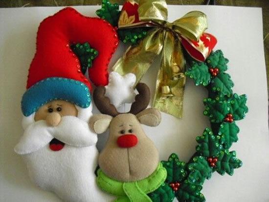 Guirlandas de Feltro para Natal
