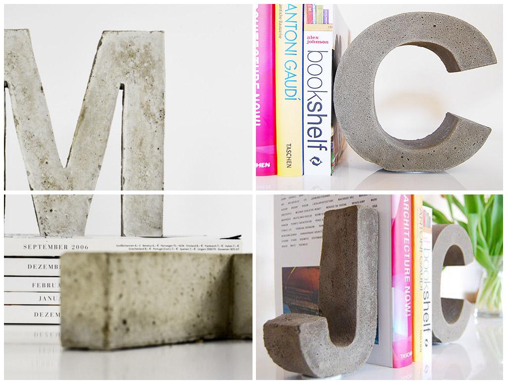 como fazer letras de concreto