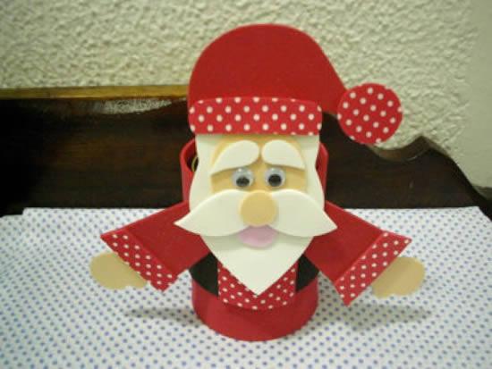 Papai Noel em EVA: 12 Exemplos Lindos