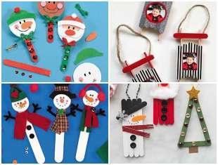 Artesanatos com Palitos de Picolé para Natal