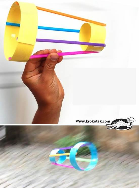 Como fazer Brinquedo com Canudos