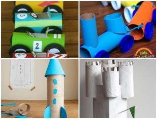Brinquedos Criativos com Rolos de Papel