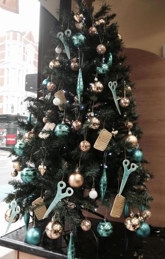 Decoração de Natal para Salão de Beleza