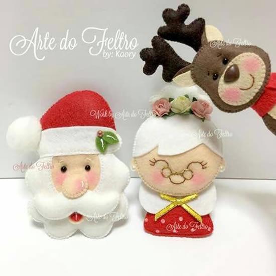Modelos de Papai Noel em Feltro