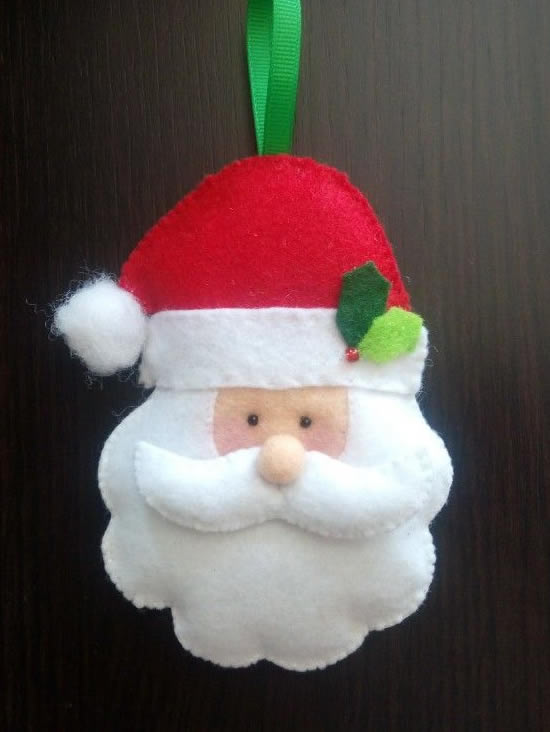 Papai Noel de Tecido com Moldes