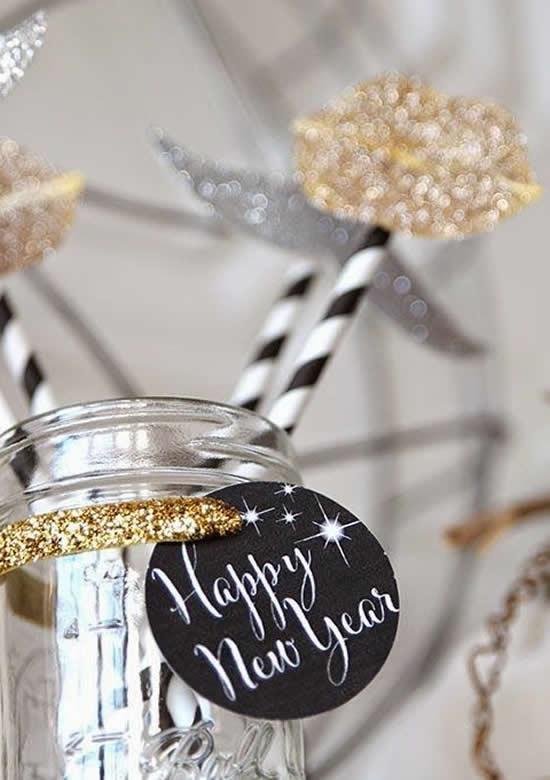 Potes Decorados para Festa de Ano Novo