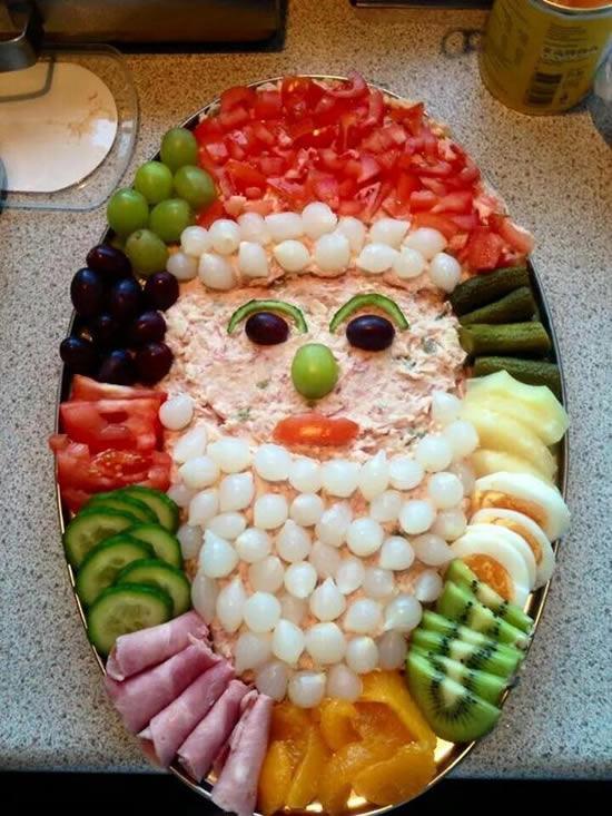 Tábua de Frios para Mesa de Natal