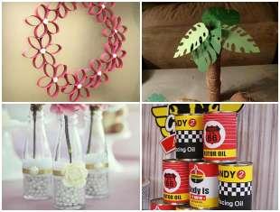 12 Enfeites com Reciclagem para Festa