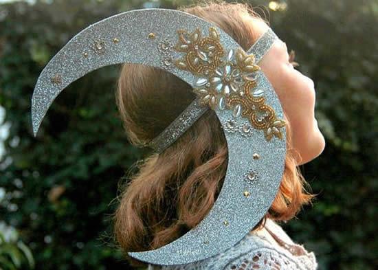 Fantasia de Lua para Carnaval