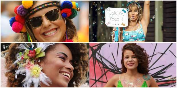 Makes e Looks para Carnaval