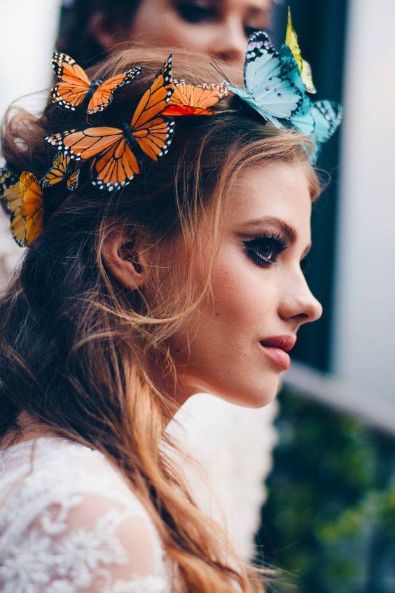 Resultado de imagem para tiara de carnaval borboleta
