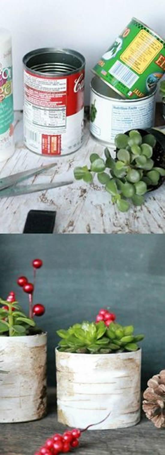 Artesanato: 20 ideias decorativas com latas